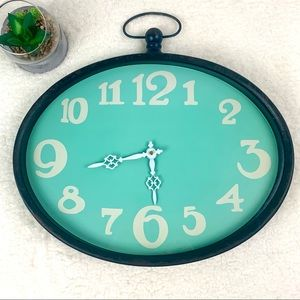 Nordstrom Distressed Oval Wall Clock Turquoise